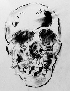 Tom French  - Skull Illusion Artwork by Tom French