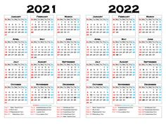 Free 2021 and 2022 Calendar Printable as Word and PDF document Free Calendar, Printable Calendar Template, Yearly Calendar, Calendar 2020, Free Printables, Calendar With Week Numbers, Elementary Art, Art Projects, Pdf