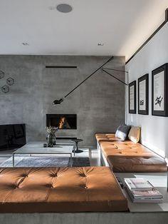 parete effetto cemento