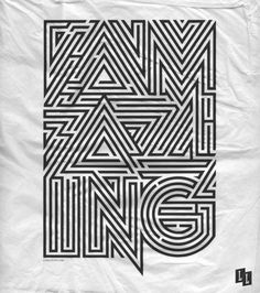 a-maze-ing! Cool Typography, Typographic Design, Typography Poster, Graphic Design Typography, Poster Art, Graphic Prints, Maze Design, Design Art, Typography Inspiration