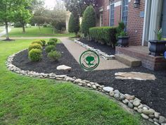 Things Need to Reconsider about Mulch Landscaping Front Yard Mulch Landscaping Front Yard Front Yard Mulch Ideas River Rock Vs Mulch Landscaping My Garden Decorative Rock Landscaping, River Rock Landscaping, Small Front Yard Landscaping, Mulch Landscaping, Landscaping With Rocks, Landscaping Ideas, Mulch Ideas, Mailbox Landscaping, Hardscape Design