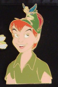 Tinker Bell and Peter Pan Jumbo pin Disney Auctions LE 100