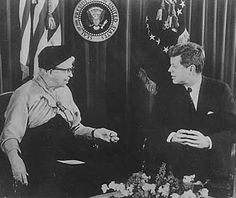 eleanor roosevelt peace corps w/ president kennedy