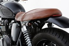 Triumph Bonneville with nice seat and rear fender