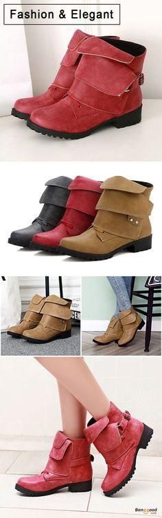 US$38.98 + Free shipping. Size: 5~12. Color: Yellow, Red, Gray. Fall in love with fashion and elegant style! US Size 5-12 Women Fashion Soft Sole Comfortable Lace Up Ankle Boots.