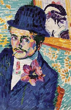 Peter Delauney - portrait of Jean Metzinger