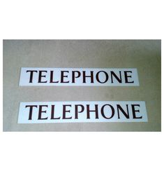 Pair Of 20th Century Plastic Telephone Signs Used For Red Telephone Boxes #telephone #redbox #sign '#plaque telepjhonebox #uk #british