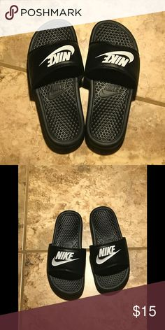 1c1b08548801 NWOT Men s Nike slides Black and white size six Nike slides Nike Shoes  Loafers   Slip-Ons