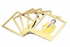 Gold magnetic polaroid frames