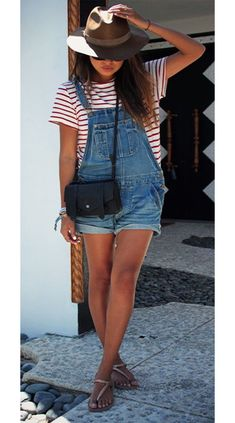 Women's Summer Fashion Inspo Outfits are looking hot with Denim Dungarees. No matter the item, denim will always be a timeless fashion piece for a put together chic summer outfit. #summeroutfits #summeroutfitcasual #summeroutfitcute #summeroutfitshopthislook #summeroutfitshopcute #summeroutfit2020 #summeroutfitchic #womensfashion #cutesummeroutfits Summer Fashion Outfits, Outfits For Teens, Teen Fashion, Spring Outfits, Trendy Outfits, Cute Outfits, Summer Fashions, Beach Outfits, Outfit Summer