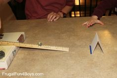 Easy Science Experiments with Momentum - Frugal Fun For Boys and Girls Physics Projects, Easy Science Experiments, Science Activities For Kids, Preschool Science, Elementary Science, Science Lessons, Teaching Science, Science Ideas, Library Activities
