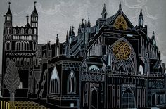 CathyKingPrints - Exeter Cathedral II