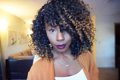 Crochet braids w/ freetress Gogo curls & Freetress Jamaican Bundle wave. #crochet #freetress #gogocurl #crochetbraids