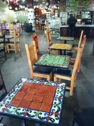 Furthur Mosaic Tables, Furniture, Gifts and Decor Table Diy, Patio Table, A Table, Dining Table, Mexican Patio, Mexican Home Decor, Mexican Tiles, Mosaic Furniture, Painted Furniture