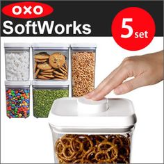 oxo oxo pop container set 5 softworks small square (Tor) 1 two small square (short) renting l (short) two storage containers save food