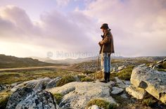 A shepherd in the Arada mountains. Portugal