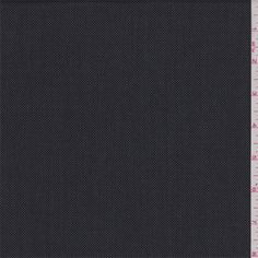 Steel grey and black miniature diamond weave lightweight wool suiting. A luxurious fabric imported from Italy that has a very soft, smooth hand and excellent drape. Use for suits, slacks and dresses. Hand wash cold or dry clean for best results. Compare to $20.00/yd
