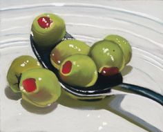 x 6 pastel painting I just can't stop painting olives! olives on a spoon Food Painting, Figure Painting, Pastel Art, Pastel Paintings, Food Artists, Art Addiction, Tea Art, Still Life Art, Beautiful Drawings