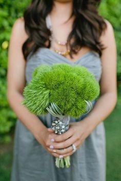 Greenery Wedding Bouquet | Bridesmaid Green Bouquet