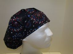 Spectacular Fireworks July 4th Bouffant Surgical by TipTopLids, $15.00