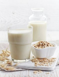 Oat milk is made from pre-soaked oat groats (hulled grains broken into fragments). It's a great alternative to dairy milk, and has a slightly sweet taste. Many people are opting for it as a way of getting essential nutrition from a natural, lactose-free a Milk Recipes, Sweet Recipes, Vegan Recipes, Lactose Free, Dairy Free, Milk Alternatives, Vegetable Drinks, Different Recipes, Diy Food