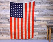 LARGE Vintage 48 Star American Flag, Antique American Flag, USA 1912-1958