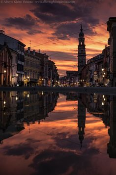 Flaming sunset over Parma by Alberto Ghizzi Panizza on 500px