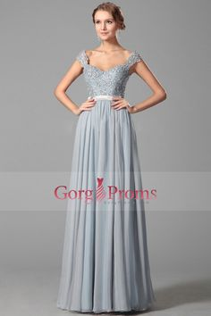 2016 Off The Shoulder Beaded Bodice A Line Prom Dresses Chiffon Floor Length