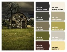 Stone Barn Color Palette Inspiration for Exterior Home Paint Color Scheme Chip It! by Sherwin-Williams – ChipCard by Christy C.