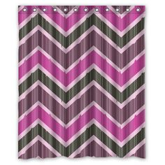 Chevron Shower Curtain Artistic Designer from DIY Supermarket, Cool, Fun, Stylish, Decorative Bathroom Products