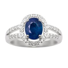 Littman Jewelers | Sapphire and Diamond Fashion Ring