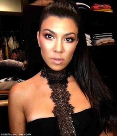 Glam: Kourtney was clearly feeling her look as she marked the occasion with a selfie shared to Instagram