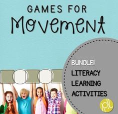 Are you looking for more ideas to incorporate movement into learning? This bundle of movement games provide quick tips and resources for brain breaks, indoor recess, and quick performance tasks based on early literacy skills! Each game is available in my store individually, or