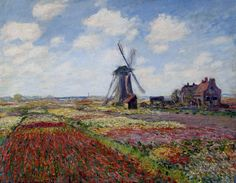 Claude Monet - Fields of Tulips with the Rijnsburg Windmill, 1886