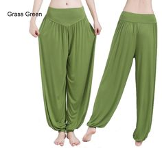 Yoga Pants Women Sports Pants Bloomer Dance Taichi Candy Color Full Length Pants Hot Sale Fitness Breathable