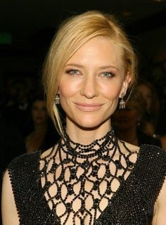 Cate Blanchett - This is a great dress and a brilliant actress.  She is a true Chameleon in all of her roles.  Some favs are: Elizabeth, The Lord of The Rings, The Missing, The Aviator, The Curious Case of Benjamin Buttons....