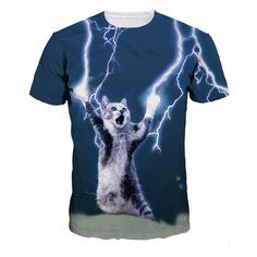 Cheap tshirt print, Buy Quality t-shirt style directly from China tshirt logo Suppliers: 2016 New Arrive T-shirt Casual t shirt Men's tshirt Tops Fashion Tee Shirts Lightning Super Cat Summer Style 3d T Shirts, Casual T Shirts, Printed Tees, Printed Shorts, Top Mode, Hip Hop, Hipster Outfits, Hipster Clothing, Men's Clothing