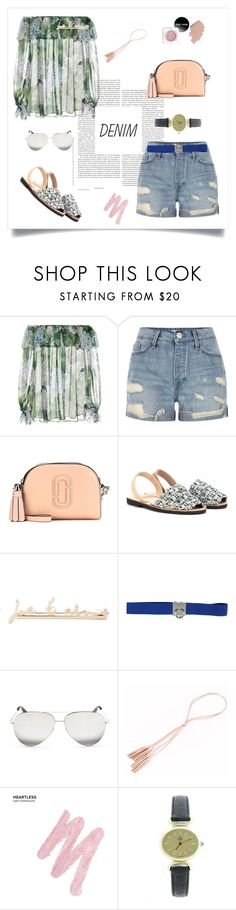"""Tear it Up: Distressed Denim♥♥♥"" by marthalux ❤ liked on Polyvore featuring Dolce&Gabbana, River Island, Marc Jacobs, del Rio London, Yves Saint Laurent, Dsquared2, Victoria Beckham, Urban Decay, Concord and Summer"