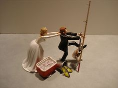 fishing Wedding Cake Toppers   Fish Fishing Wedding Cake Topper Red Cooler Ice Bud Beer Pole Lantern ...
