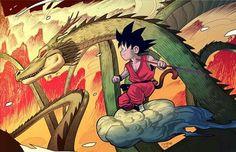 Goku y shenlong por Dan Mora
