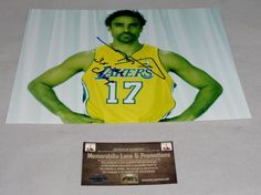 Rick Fox LAKERS autograph 8x10 COA Memorabilia Lane & Promotions