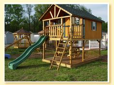 playsets for backyard | Deluxe Cottage playset/playhouse