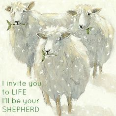 """I am the good Shepherd. I know My own and My own know Me,"" John 10:14."
