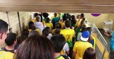 Público ainda sofre com transporte na saída dos jogos olímpicos do Rio