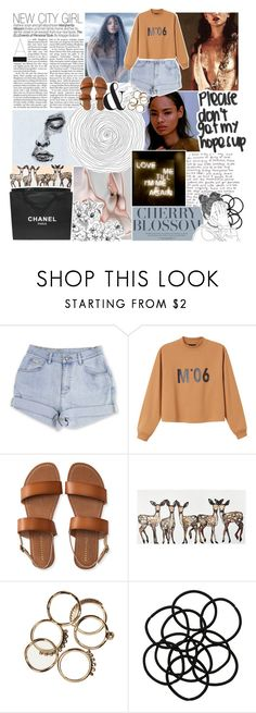 """""""♡ LOVE ME TILL I'M ME AGAIN ♡"""" by oreokk22 ❤ liked on Polyvore featuring Monki, Aéropostale, WALL and Chanel"""