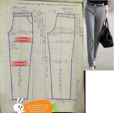 Sewing pants pattern costura Ideas for 2020 Dress Sewing Patterns, Sewing Patterns Free, Sewing Tutorials, Clothing Patterns, Free Pattern, Sewing Pants, Sewing Clothes, Diy Clothes, Costura Fashion