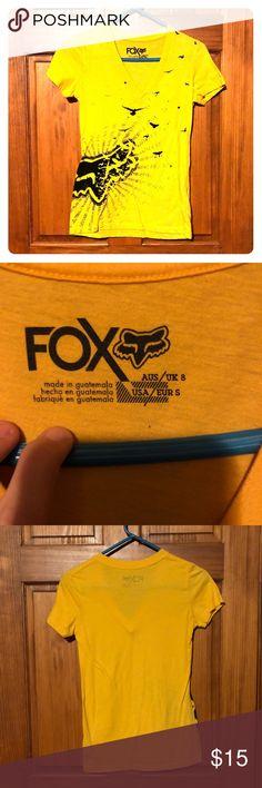 NWOT Fox racing v neck NWOT yellow gold fox racing shirt Fox Tops Tees - Short Sleeve