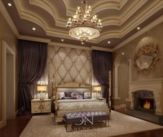 Create an oppluent Bedroom to Escape. Gorgeous drapes cascading to the floor like Niagra Falls.