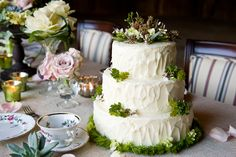 Cake.  Love this homey cake with greenery  0017_CH_20120131_4141