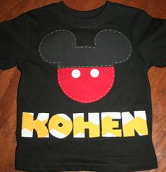 Mickey Mouse Clubhouse Birthday Name Shirt